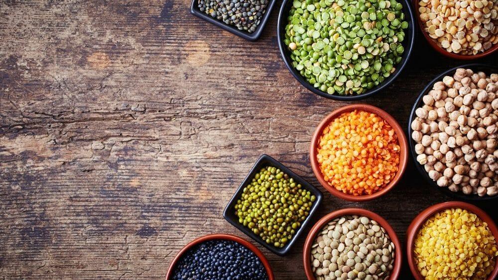 la liste des légumes secs