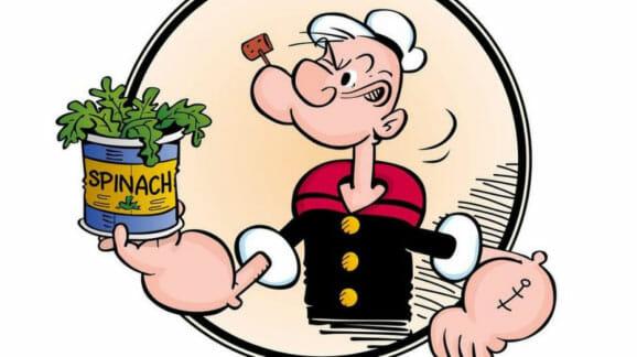 Les bienfaits des épinards vus par Popeye