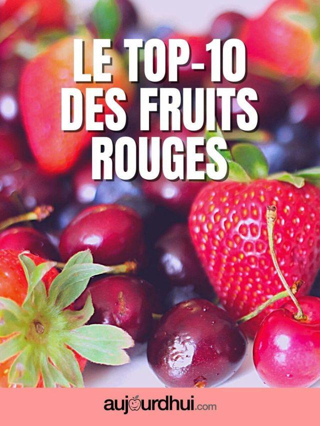 La liste des fruits rouges
