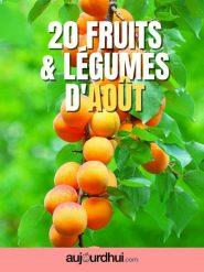 20 fruits et légumes d'août