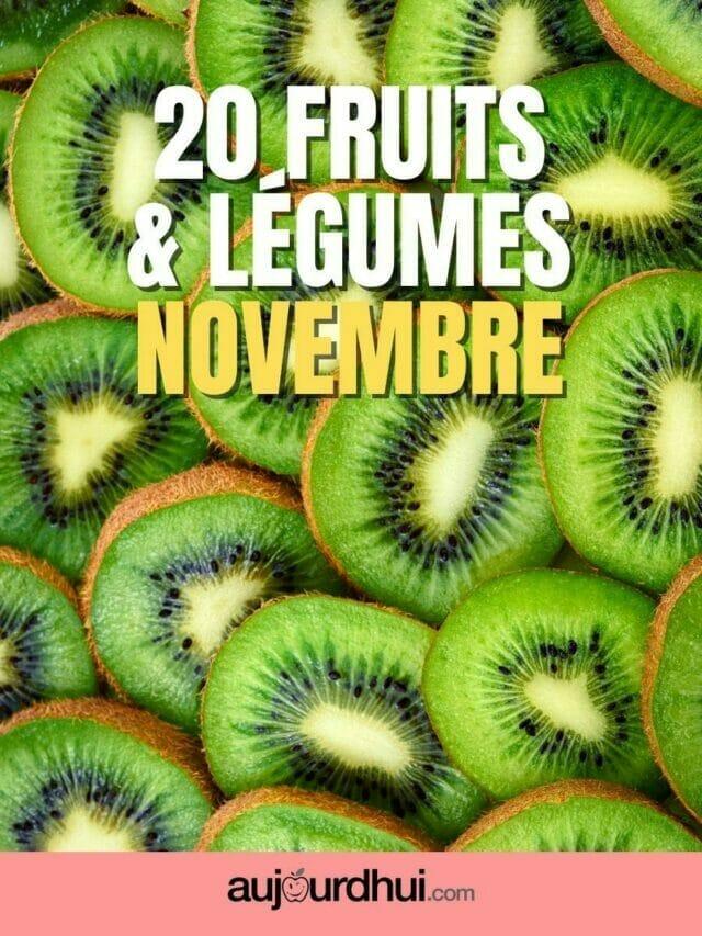 20 fruits et légumes de novembre