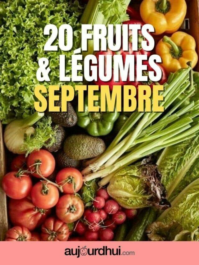 Les fruits et légumes de septembre