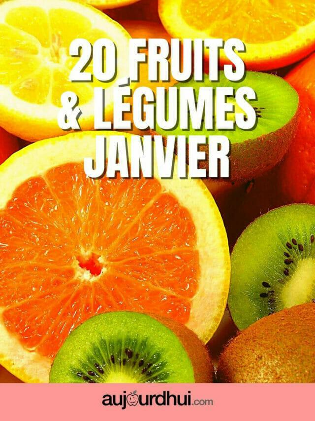 20 fruits et légumes de janvier