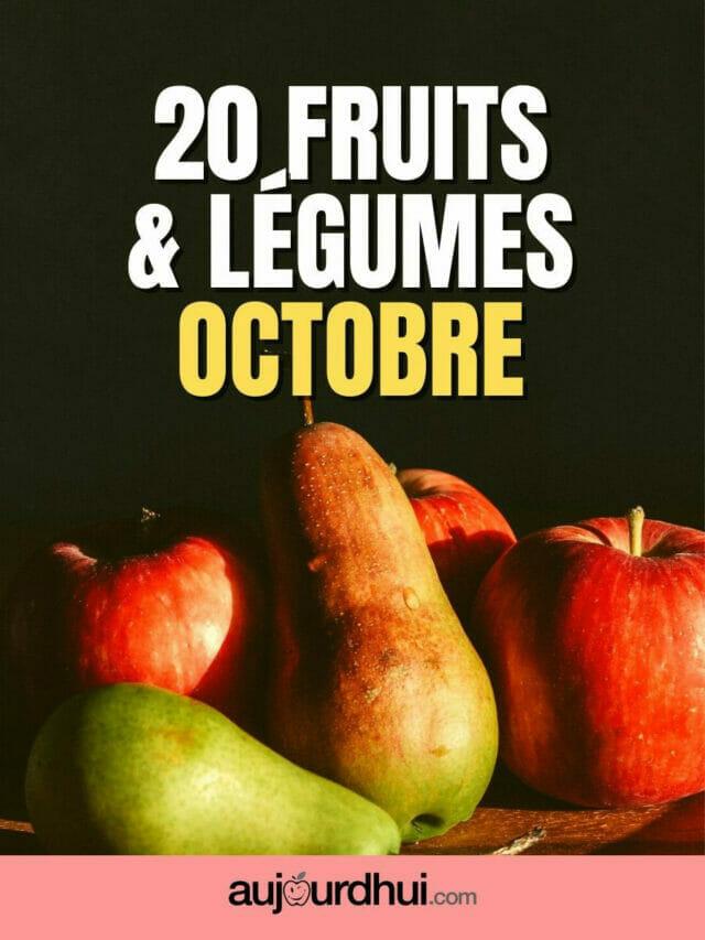 20 fruits et légumes d'octobre